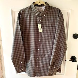 NEW Original Penguin checked flannel shirt, S or L